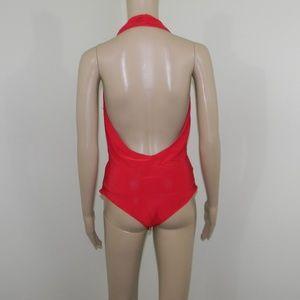 393458cfc31ef3 AKIRA Intimates   Sleepwear - Akira Red Halter Bodysuit